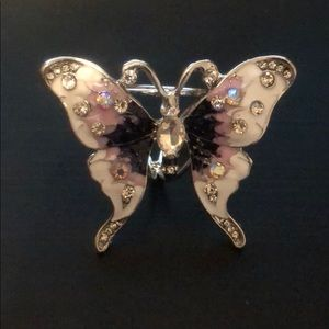 Elegant Costume Butterfly Scarf Holder Clip